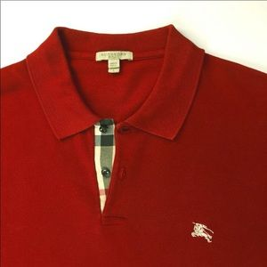 BURBERRY BRIT Check Placket Classic Fit Polo Shirt